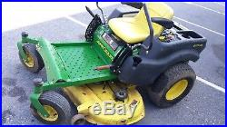 2007 John Deere Z425 23 hp Briggs 48 cut used lawn mower zt JD EZtrak 569 hrs