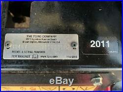 2011 Toro Groundsmaster 7200 30467 Diesel Zero Turn Mower 655 Hours