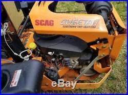 2014 SCAG 61 zero turn Cheetah with 35 HP efi engine