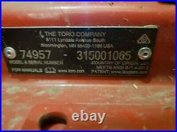 2016 TORO 3000 series 60 COMMERCIAL ZERO TURN LAWN MOWER Z Master