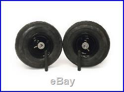 (2) Universal 11x4.00-5 Ribbed Caster Wheel Assembly Zero Turn 3/4 bearings