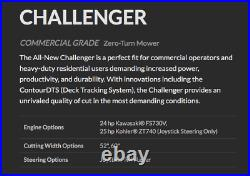 30 +/- hours likeNEW 2018 Country Clipper CHALLENGER COMMERCIAL Zero-Turn Mower