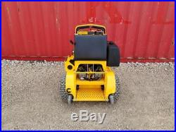 36 Wright Stander Electric Start Commercial Zero Turn Mower stand on kawasaki