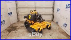 36 Wright Stander Sentar Sport Rapid Height Commercial Zero Turn Mower stand on