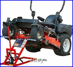 550Lbs Lawn Riding Mower Lift Repair Jack Tractor ATV Hydraulic Blades Zero Turn