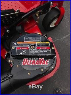 EXmark Lazer Z S-series 52 Mower with Ultravac