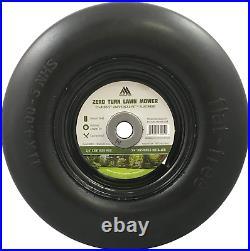 Front zero-turn Lawn Mower Tire Assembly Flat Free 11x4.00-5, 3.4 Hub Bushing