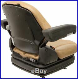 Grammer MSG75 Brown Vinyl Air Seat Fits Scag ZTR Zero Turn Mowers Turf Tiger