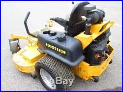 Hustler Super Z 66 deck 25 HP Kawasaki Flex Forks suspension 927897 used mower