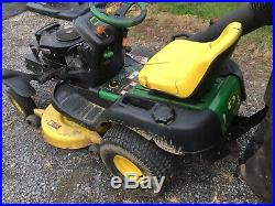 John Deere Riding Mower Tractor SST16 Spin steer Zero Turn 16hp 42 Withbagger