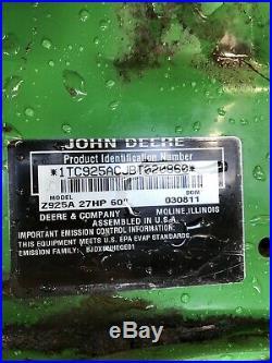 John Deere Zero Turn 925A