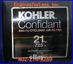 Kohler Confidant Pazt7203017 21 HP Engine Fits Zero Turn Ztr Exmark Scag Toro