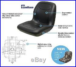 New Black HIGH BACK SEAT for Hustler ZTR Zero Turn Lawn Mower Garden Tractor