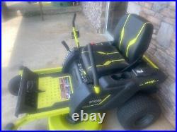 RYOBI 42 in. 100 Ah Battery Electric Zero Turn Mower Heavy Duty (RY48ZTR100)