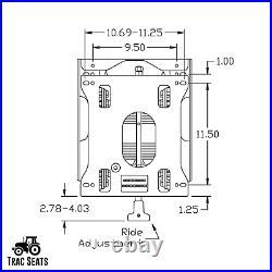 Seat Suspension Kit for Zero Turn Lawn Mower Skid Steer Forklift Tractor