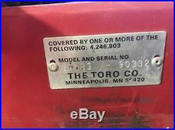 Toro Groundsmaster 345 Commercisl Mower 1,432 Hours