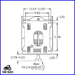 Trac Seats Seat Suspension Kit for Bob-Cat Bobcat ProCat Series Zero Turn Mower