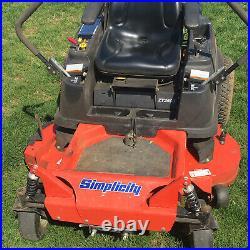 Used Simplicity zero turn mower ZT2500