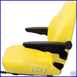 Yellow High Back Seat John Deere M653, M655, M665 Ztr, Zero Turn Lawn Mower #jk