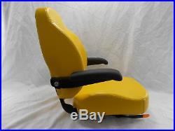 Yellow Ultra High Back Seat C1211 Fits John Deere Ztr Zero Turn Mowers #uhby