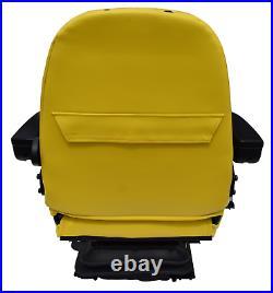 Yellow Zero Turn Mower Suspension Seat Armrests John Deere Cub Cadet Hustler