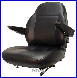 Zero Turn Turf Lawn Mower Seat with Armrests John Deere Hustler Ect