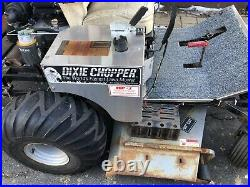 Zero turn lawn mower dixie chopper with snowplow
